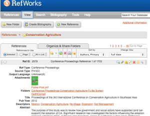 Our RefWorks research database contains over 2,000 publications on CA.
